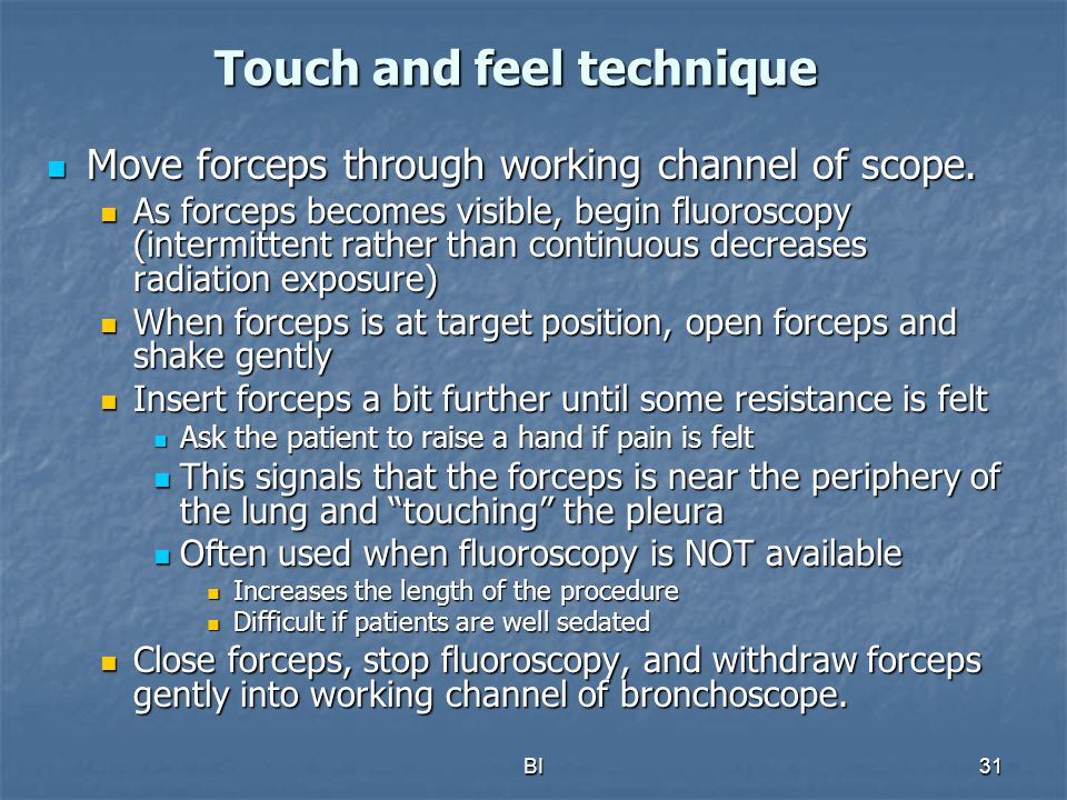 Touch and feel technique