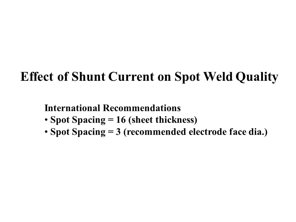 Effect of Shunt Current on Spot Weld Quality
