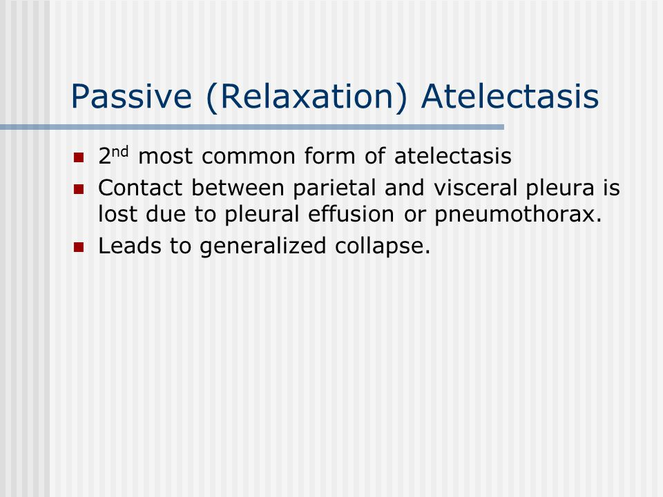 Passive (Relaxation) Atelectasis