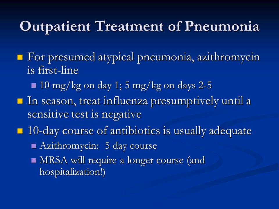 Outpatient Treatment of Pneumonia