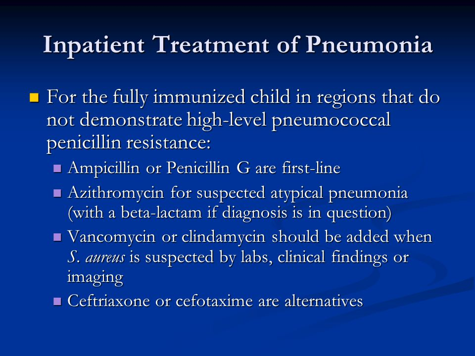 Inpatient Treatment of Pneumonia