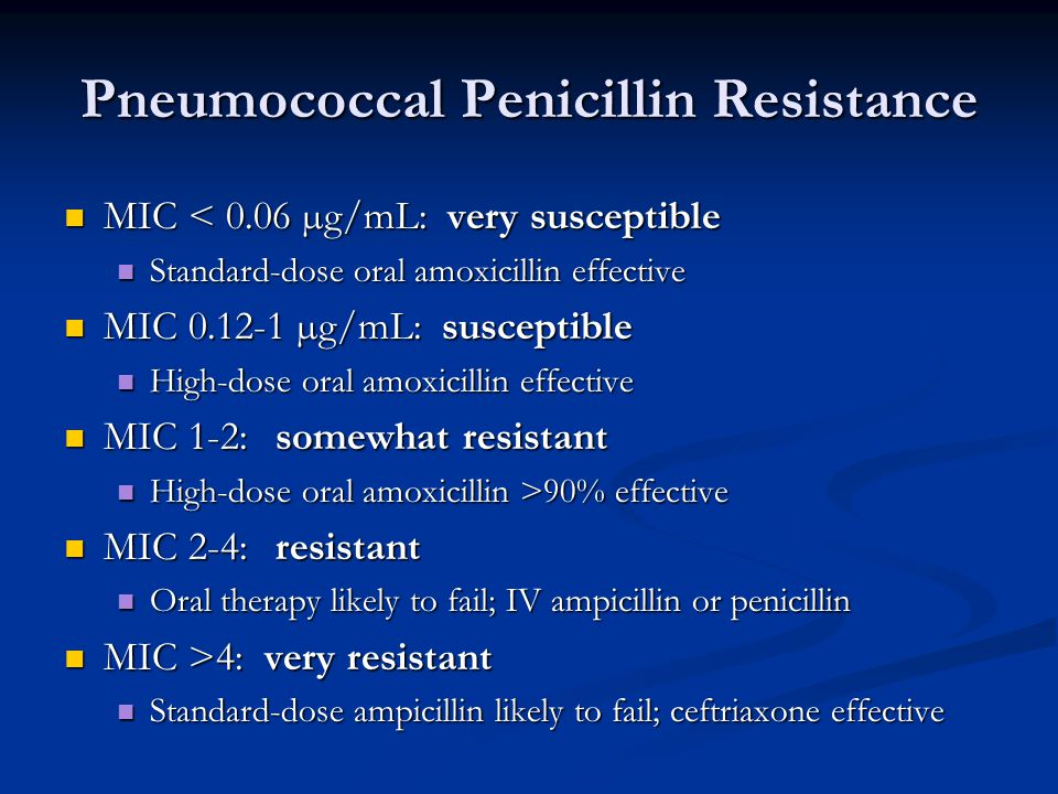Pneumococcal Penicillin Resistance