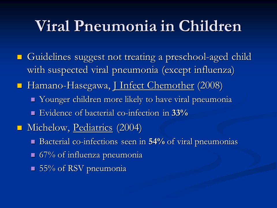 Viral Pneumonia in Children