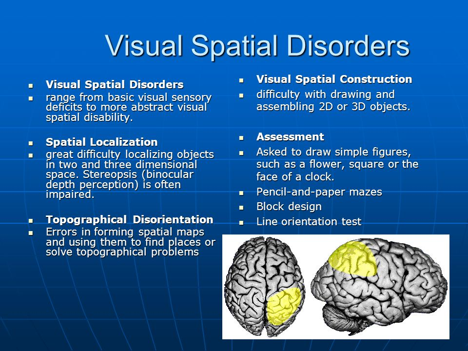 Visual Spatial Disorders