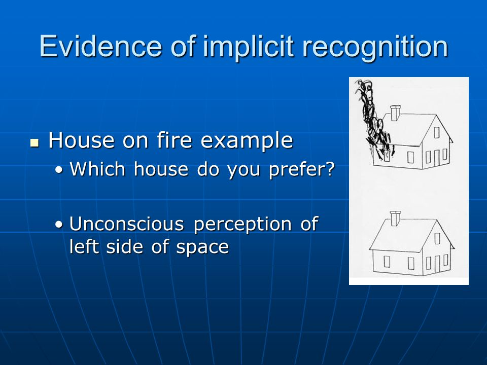 Evidence of implicit recognition