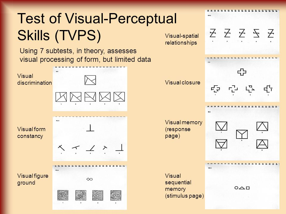 Test of Visual-Perceptual Skills (TVPS)