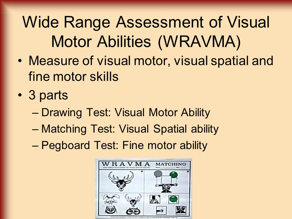 Wide Range Assessment of Visual Motor Abilities (WRAVMA)