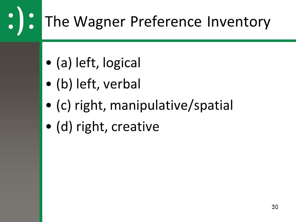 The Wagner Preference Inventory