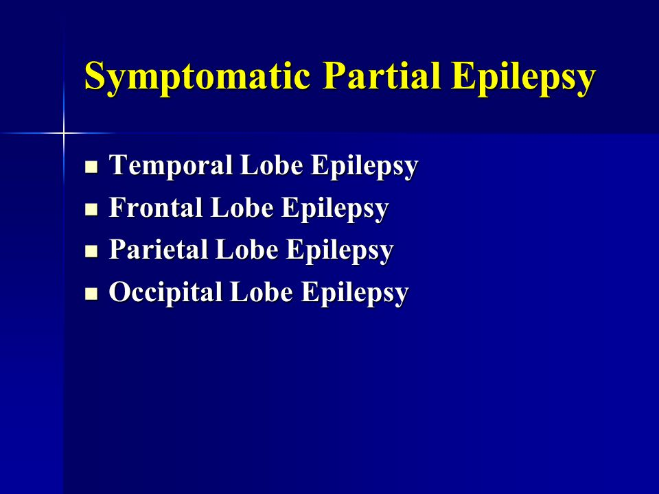 Symptomatic Partial Epilepsy