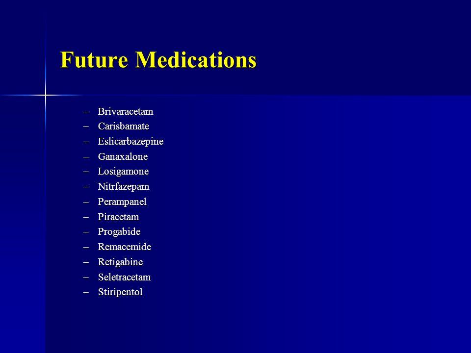 Future Medications Brivaracetam Carisbamate Eslicarbazepine Ganaxalone