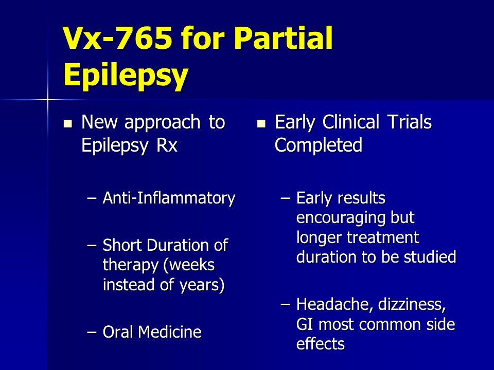 Vx-765 for Partial Epilepsy