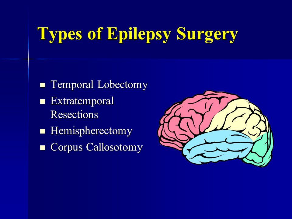Types of Epilepsy Surgery