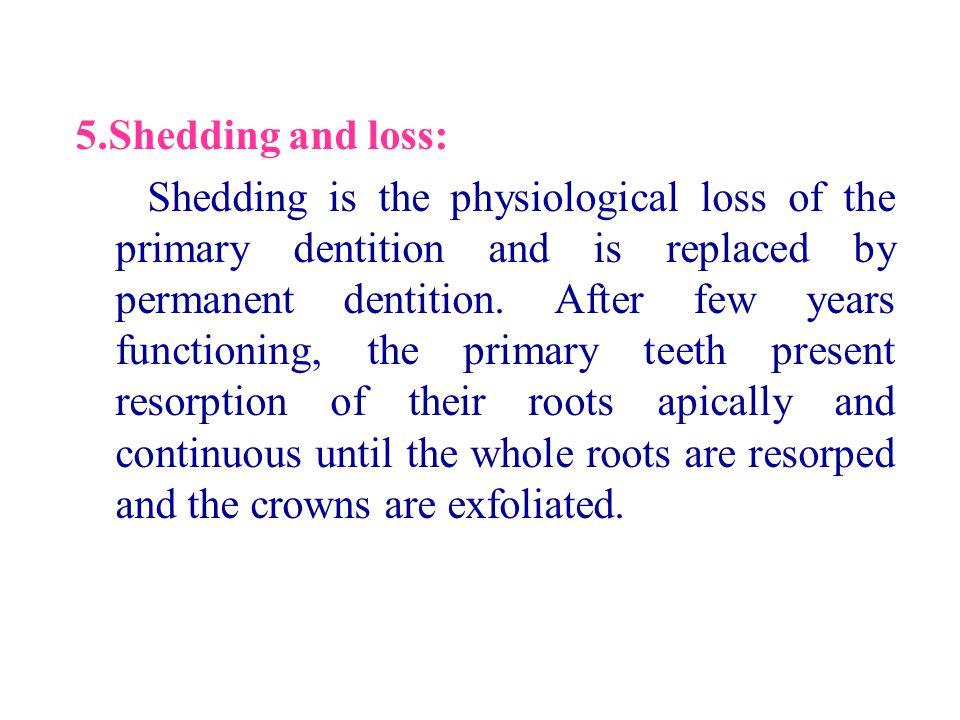 5.Shedding and loss: