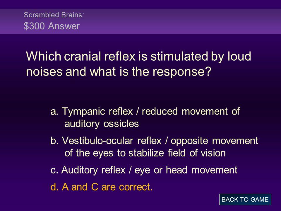 Scrambled Brains: $300 Answer