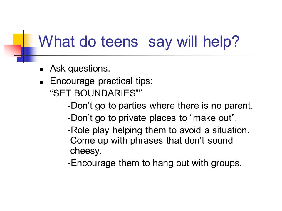 What do teens say will help