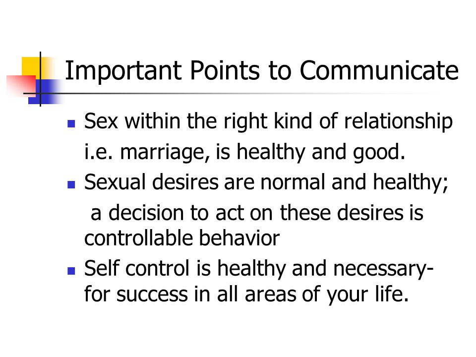 Important Points to Communicate