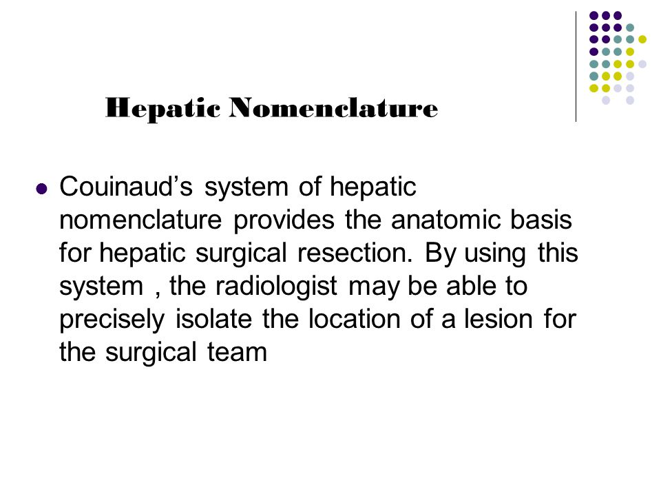 Hepatic Nomenclature
