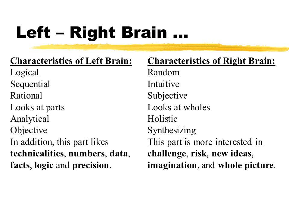 Left – Right Brain …