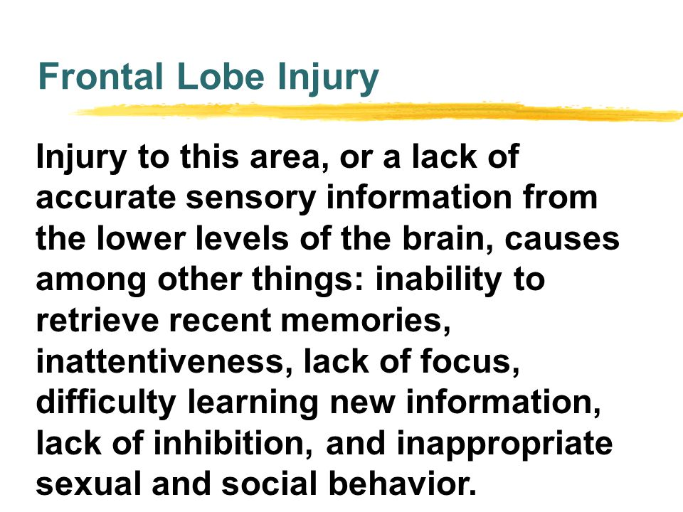 Frontal Lobe Injury