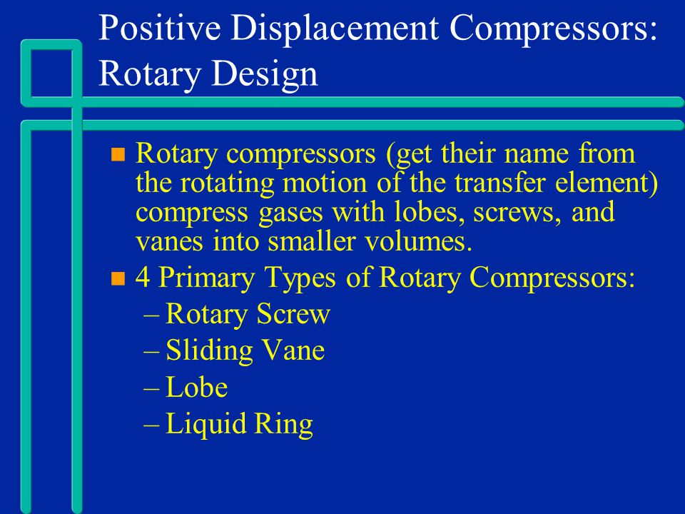Positive Displacement Compressors: Rotary Design
