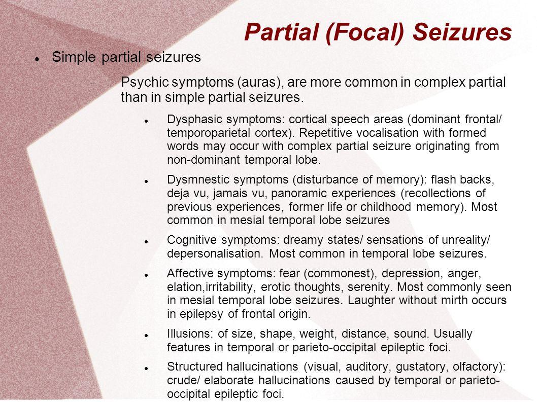 Epilepsy Dr Desiree Fernandez UCC 7th March ppt video ... Epilepsy Seizure Symptoms