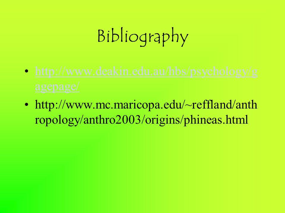 Bibliography http://www.deakin.edu.au/hbs/psychology/gagepage/