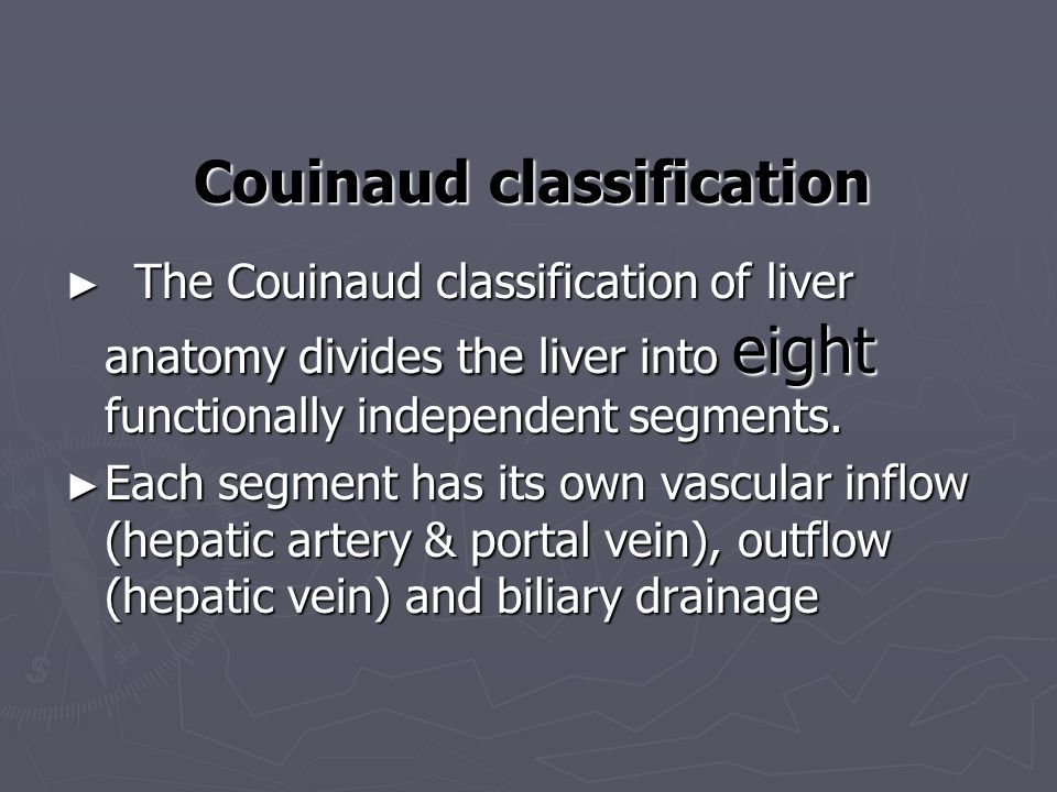 Couinaud classification