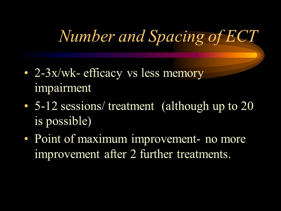 Number and Spacing of ECT