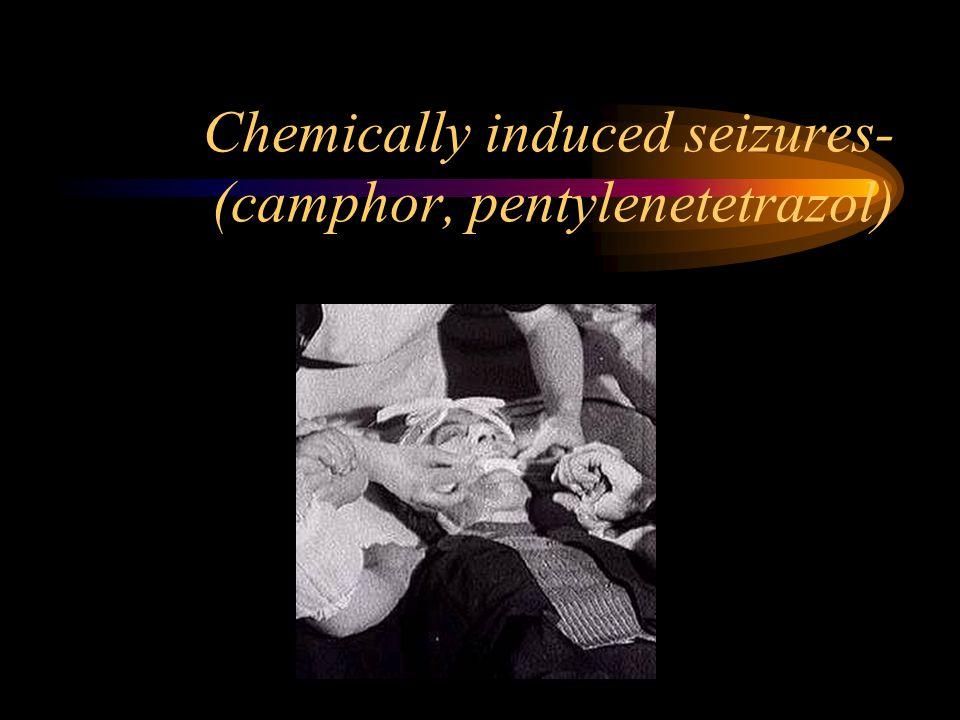 Chemically induced seizures- (camphor, pentylenetetrazol)