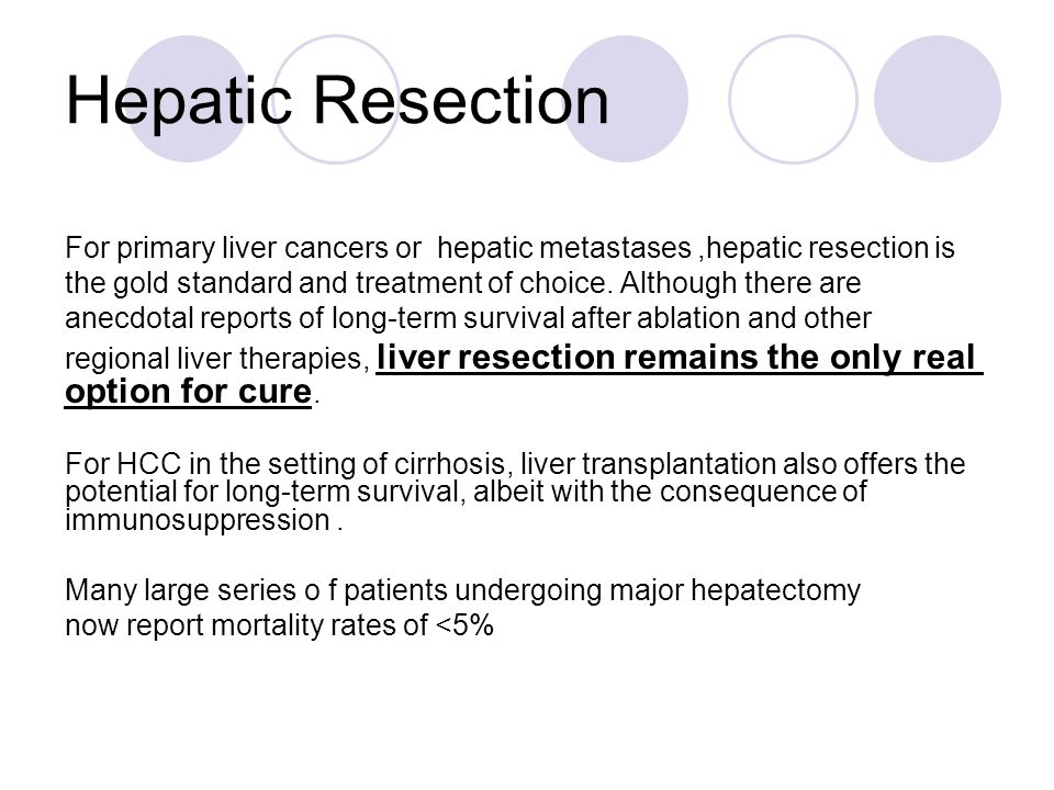 Hepatic Resection For primary liver cancers or hepatic metastases ,hepatic resection is.