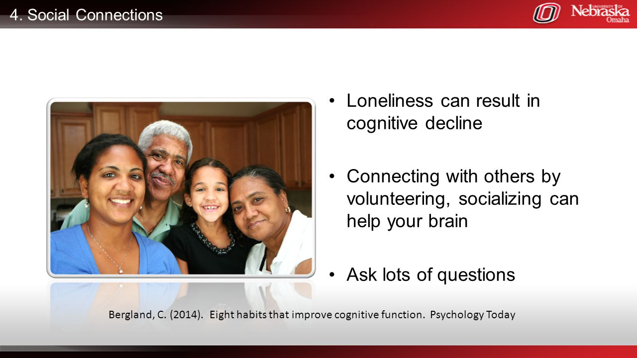 Loneliness can result in cognitive decline