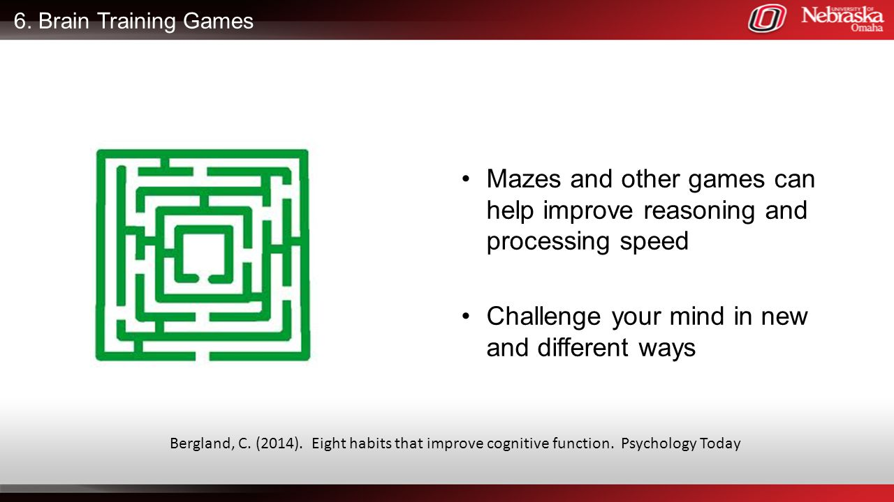 Mazes and other games can help improve reasoning and processing speed