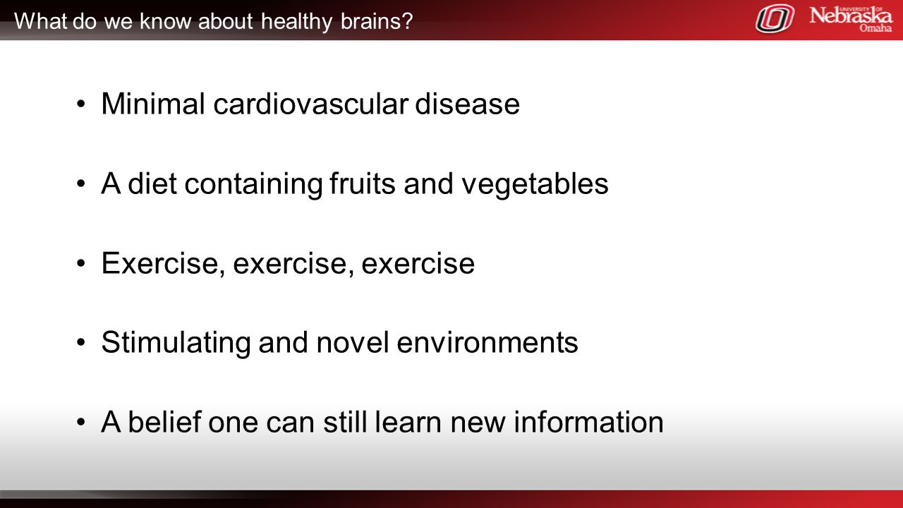 What do we know about healthy brains