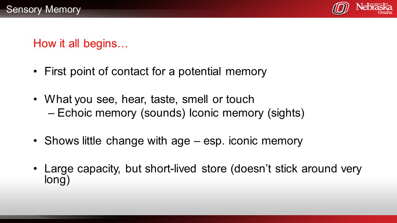 First point of contact for a potential memory