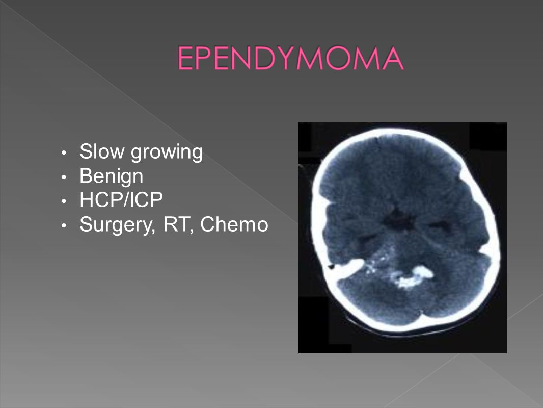 Slow growing Benign HCP/ICP Surgery, RT, Chemo