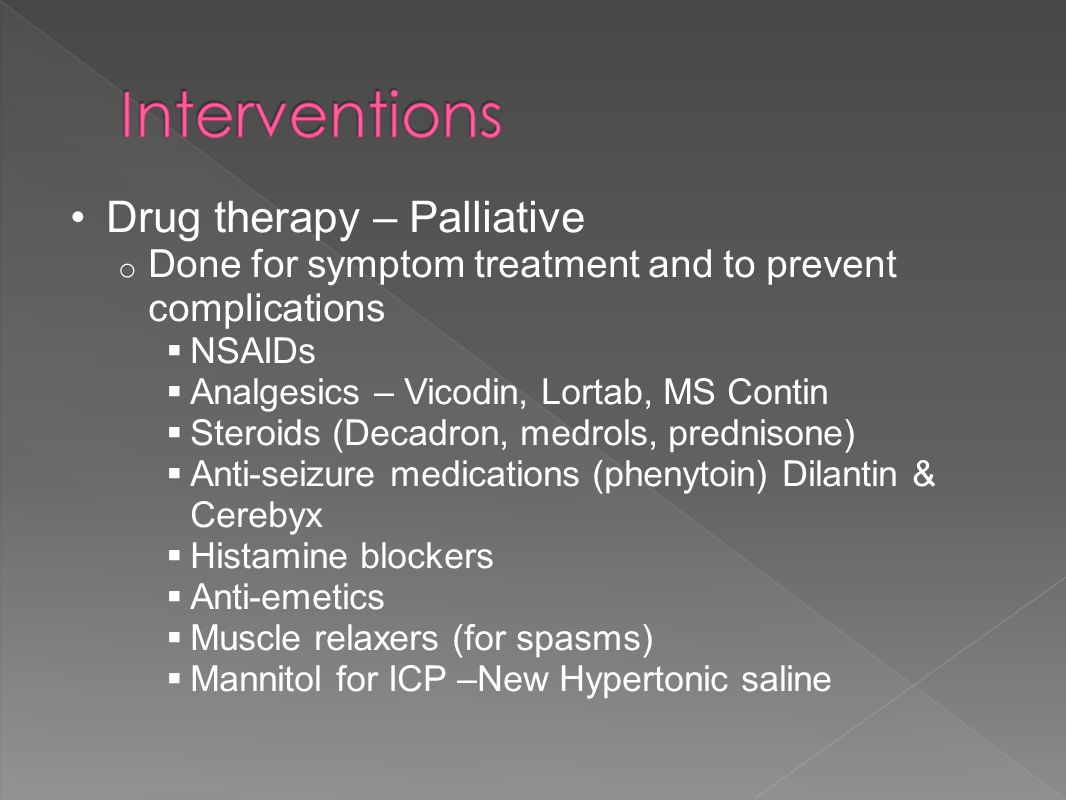 Drug therapy – Palliative