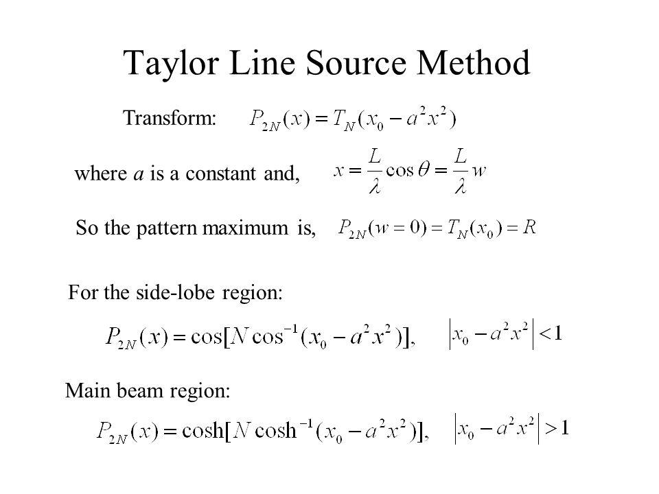 Taylor Line Source Method