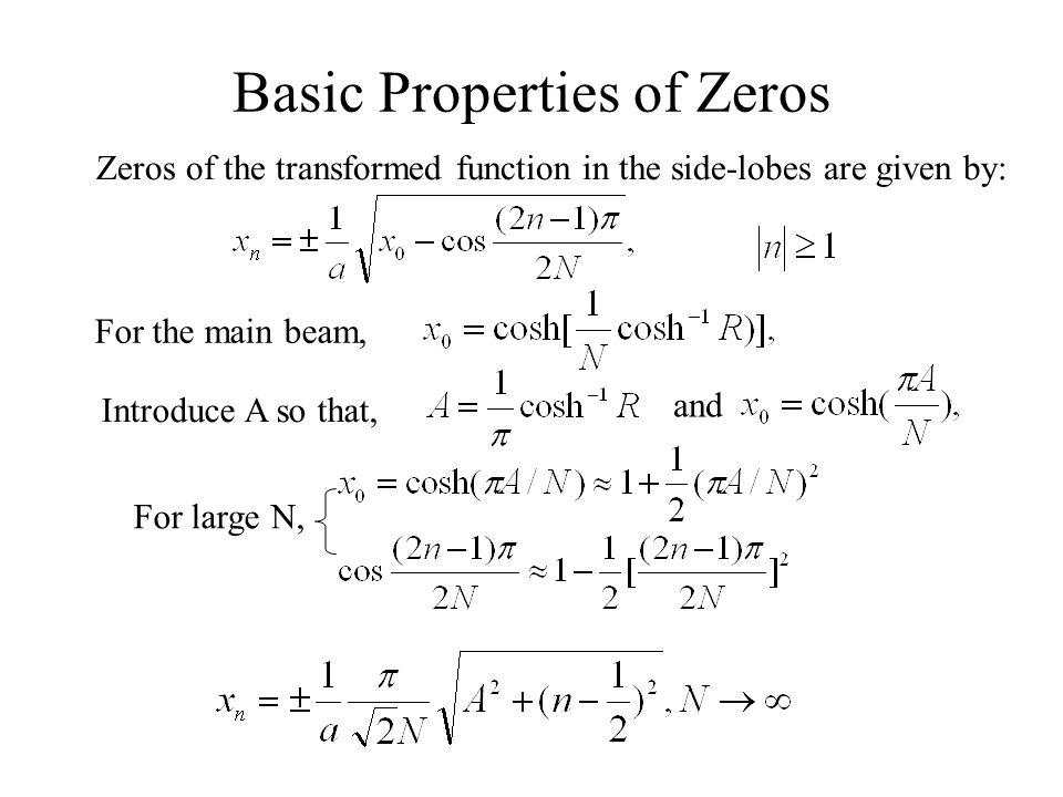 Basic Properties of Zeros