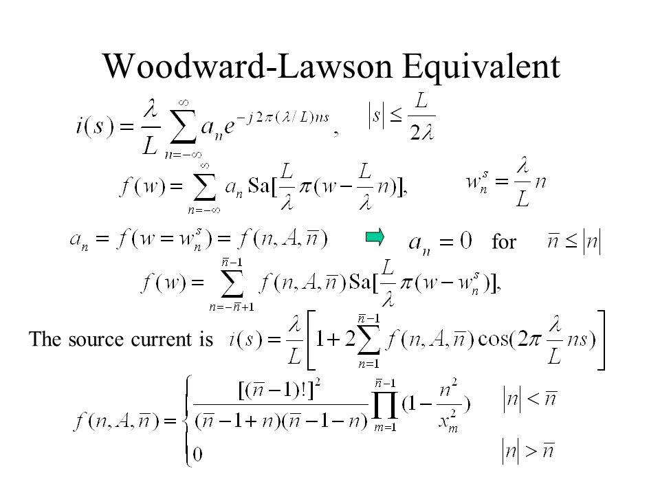 Woodward-Lawson Equivalent
