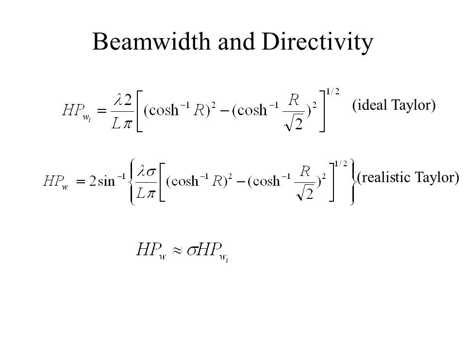 Beamwidth and Directivity