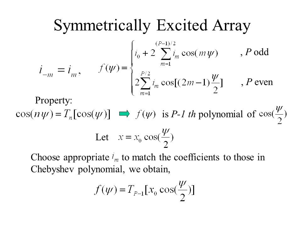 Symmetrically Excited Array