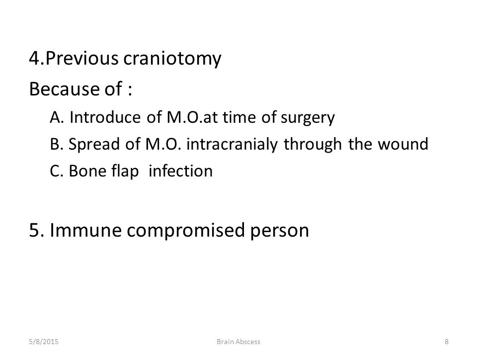 5. Immune compromised person