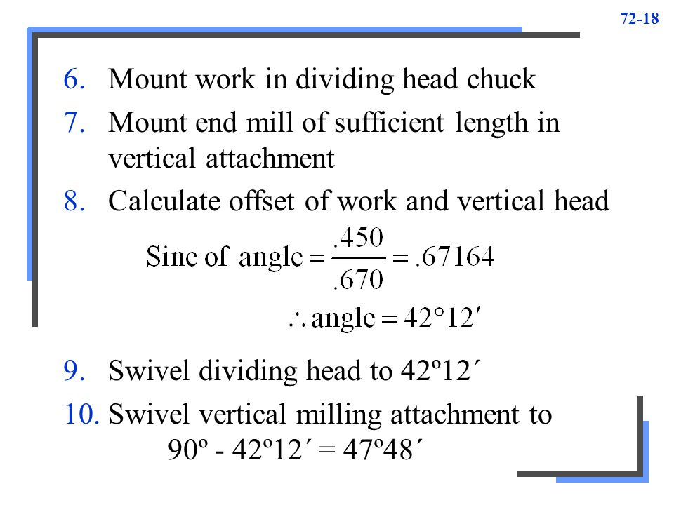Mount work in dividing head chuck