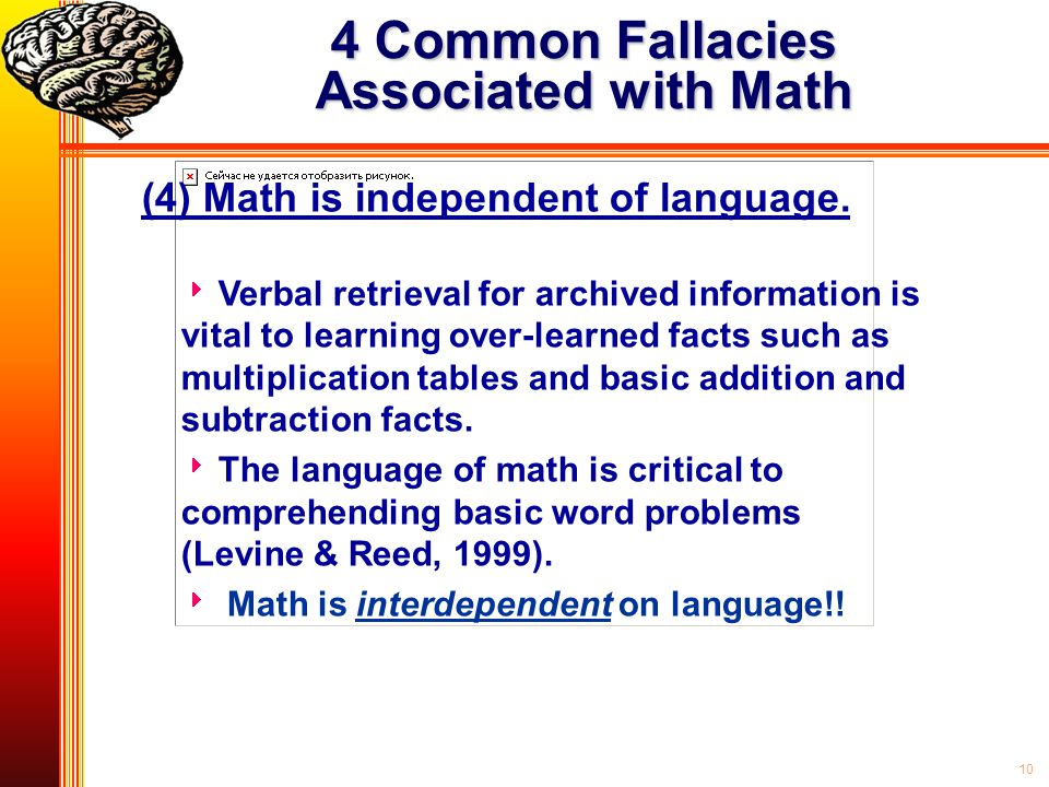 4 Common Fallacies Associated with Math