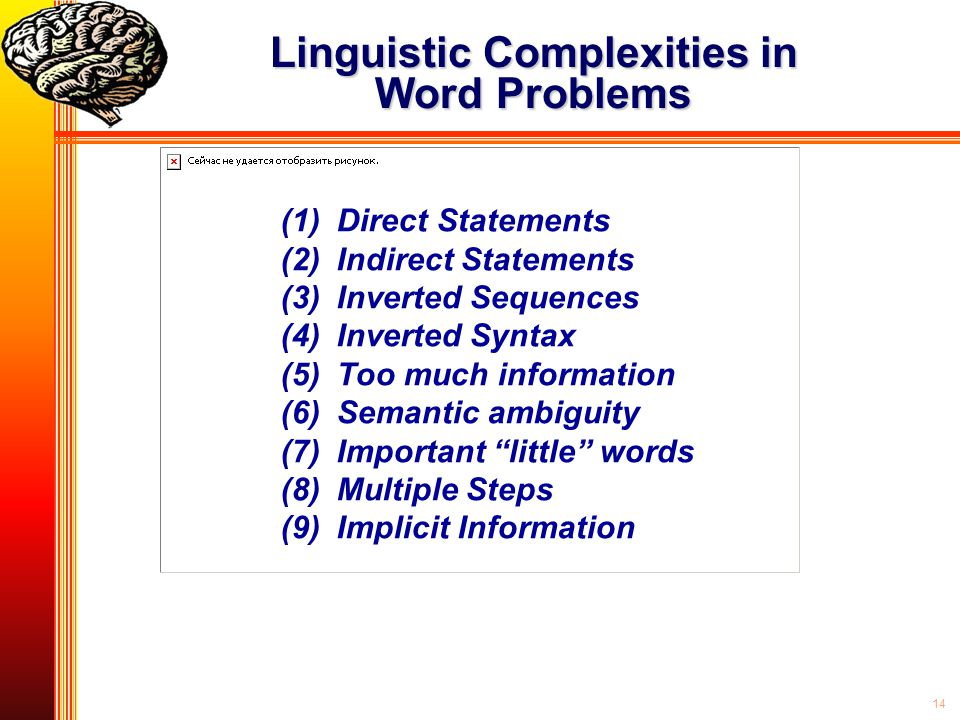 Linguistic Complexities in Word Problems