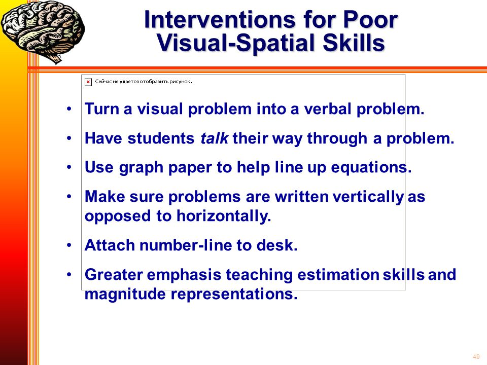 Interventions for Poor Visual-Spatial Skills