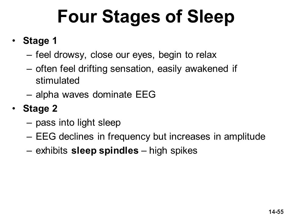Four Stages of Sleep Stage 1