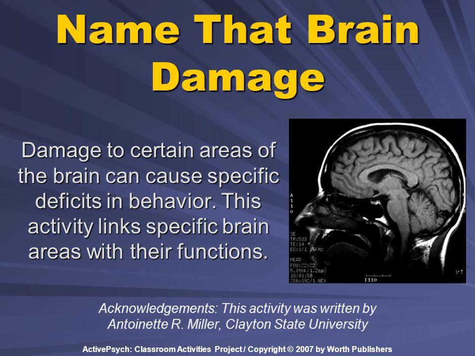 Name That Brain Damage