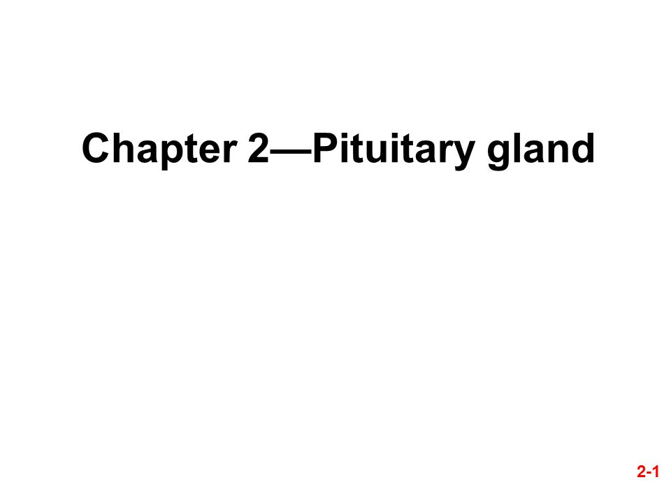 Chapter 2—Pituitary gland