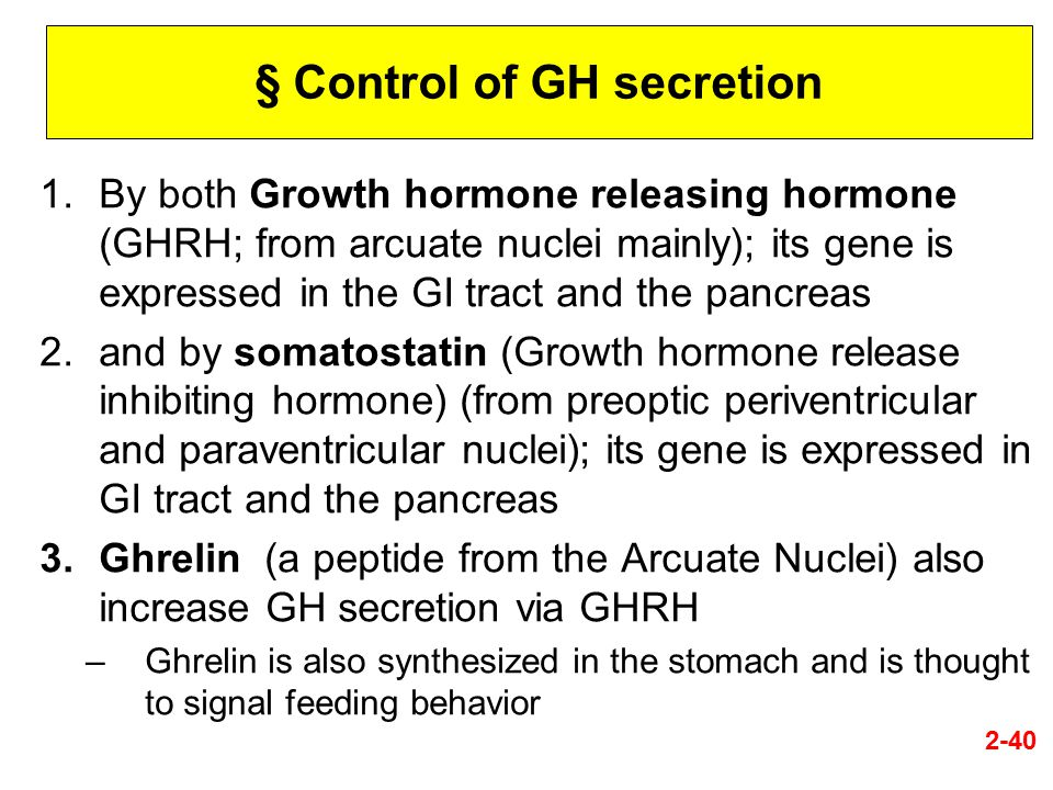 § Control of GH secretion